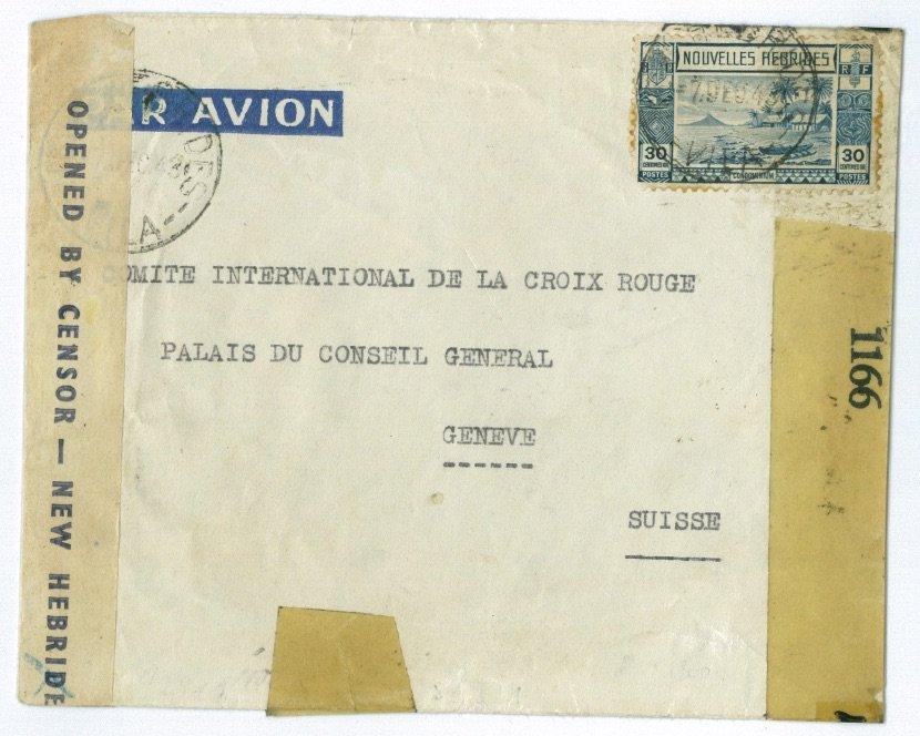Stampsx Forum Thema 1943 Von Neue Hebriden In Die Schweiz