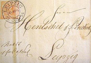 Falschstempel Leipzig 22. Jul 1851
