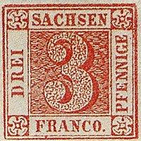 Sachsen Nr. 1, Platte III, Feld 5