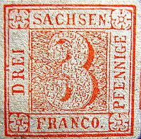 Buchdruck-Fälschung nach Platte V, Type 3